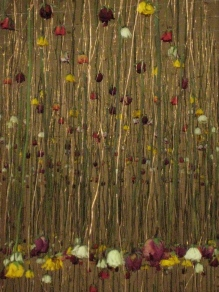 Installation by floral artist Rebecca Louise Law at the Garden Museum, London