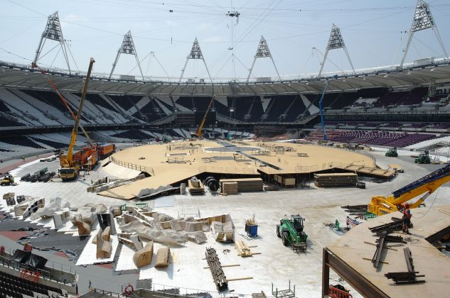 Olympic Stadium stage
