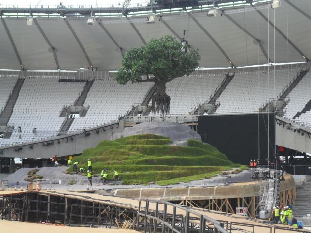 Olympic Tor being created
