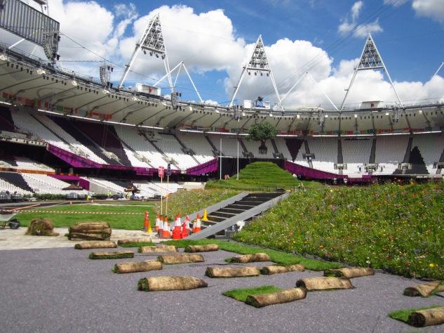 Wildflower verge at Olympic Stadium