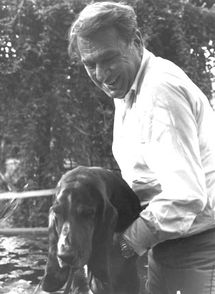 Henry Mitchell and his beloved dog by Nicholas Weber via kind permission of David Neumeyer