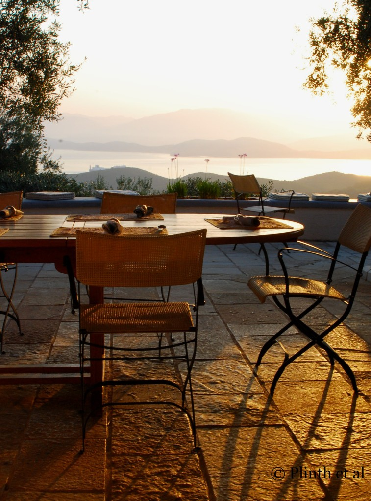 Breakfast by the morning light in Corfu, Greece