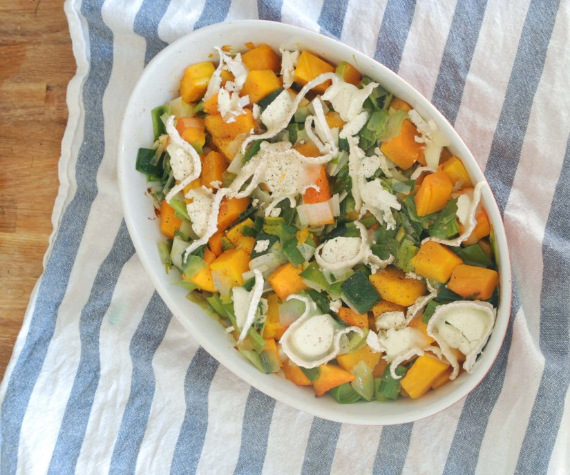 Butternut Squash and Leeks Baked with Goat'sCheese
