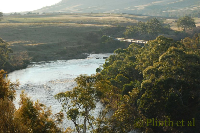 Named after its namesake in Cumbria, England, the River Derwent winds through prime agricultural lands in southern Tasmania.