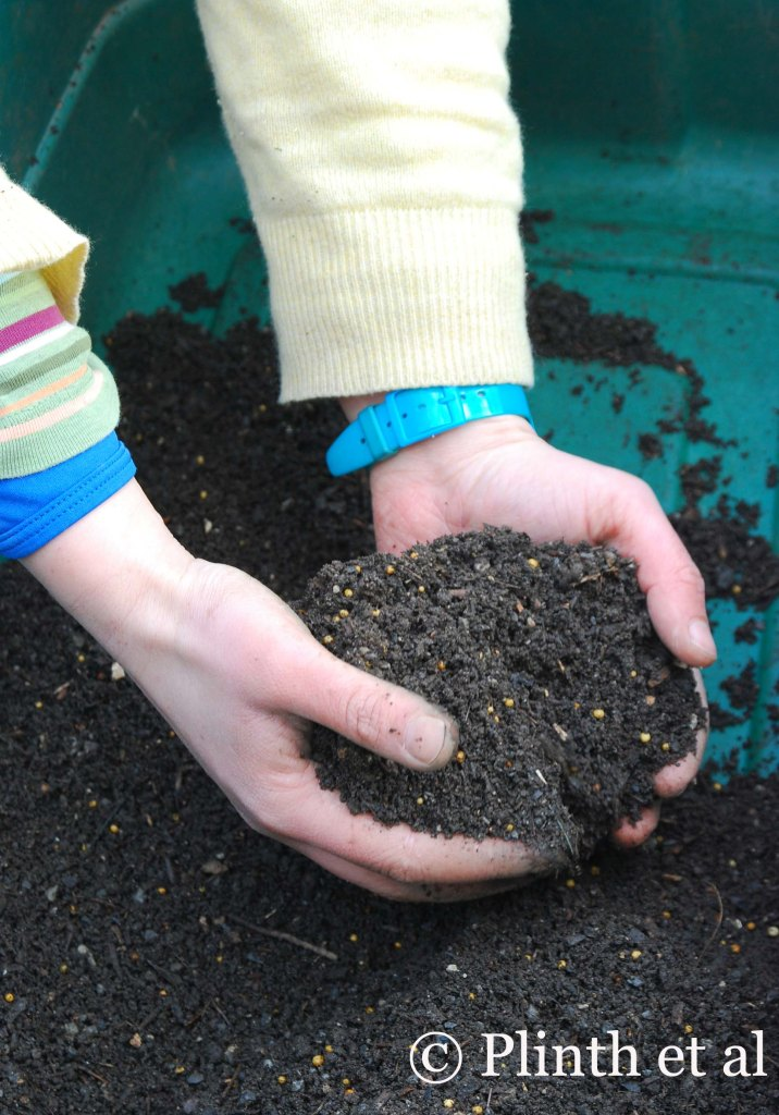 Emma mixes her own potting medium, which ensures plants tough enough to withstand garden conditions.