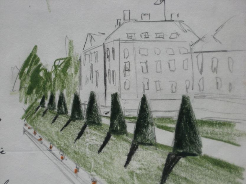 sketch of Paleis Het Loo, the Netherlands, 2009 - J.McGrath