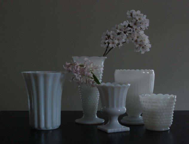 Favorite Antique: Milk Glass Vases