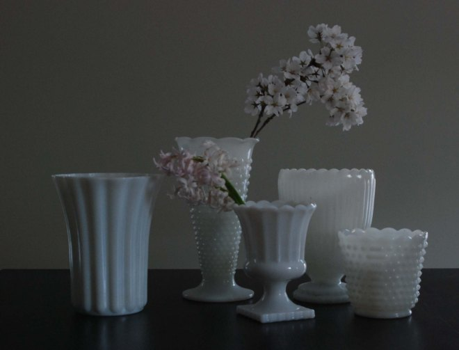 Favorite Antique: Milk Glass Vases