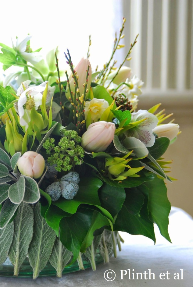 Spring Green Bouquet Side View