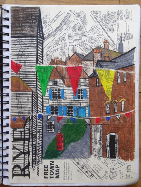 Mermaid Street, Rye, England, colored pencils, J.McGrath