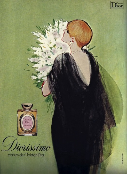 Diorissimo, René Gruau for Christian Dior, courtesy of agentofstyle.com