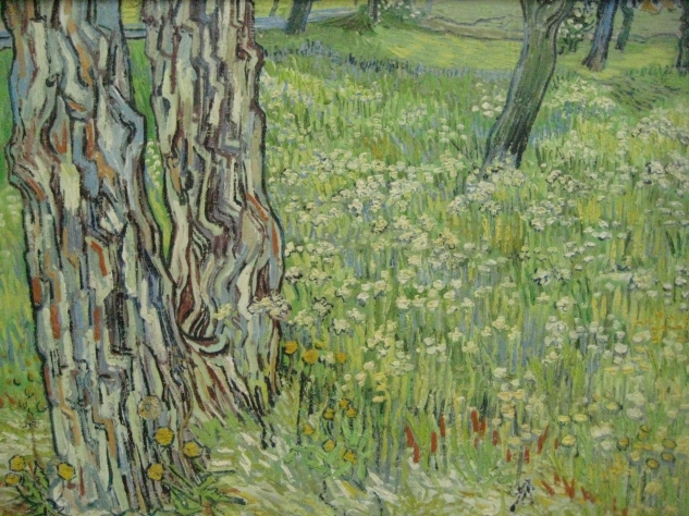 Vincent van Gogh Tree Trunks in the Grass, 1890