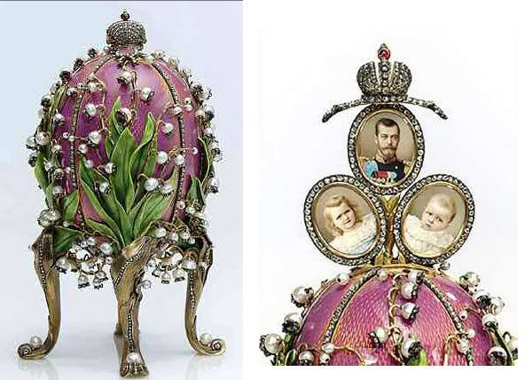 Faberge's Lilies of the Valley Egg (Image Credit:  http://expertdiamant.wordpress.com/)