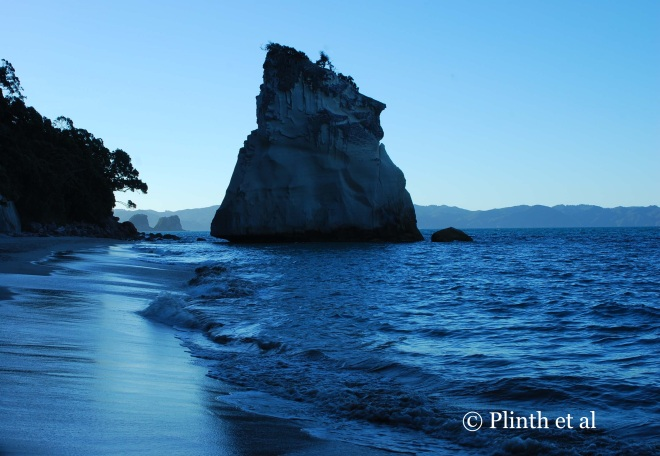 Dramatic rock formations in nature, like the one here at Cathedral Cove in New Zealand, always seduce me - their unhewn shapes have a whimsy not easily copied - and even better if they are on the coast.