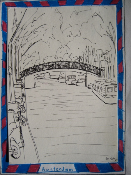 Amsterdam sketch, J. McGrath