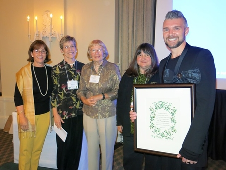 John Pastoriza-Pinõl is presented the 2013 ASBA Diane Bouchier Artist Award by the American Society of Botanical Artists (image courtesy of American Society of Botanical Artists at https://www.asba-art.org/about-asba/awards)