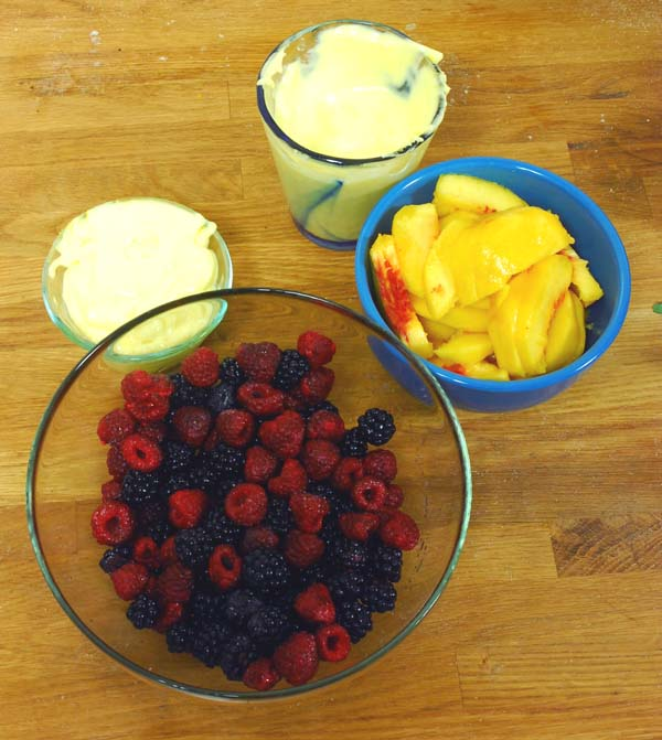 Summertime Recipes: Fresh Summer Berries and Peaches withSabayon