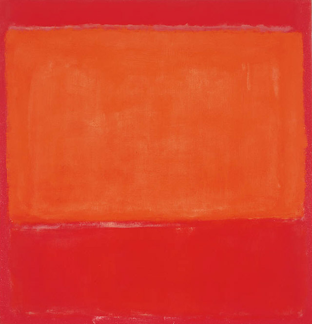 """""""Orange and Red on Red"""" by Mark Rothko (image courtesy of The Phillips Collection)"""
