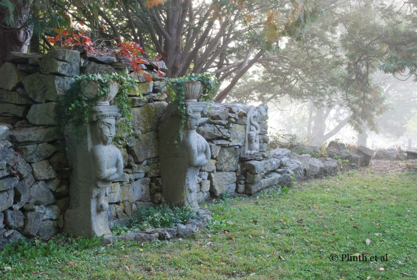 Historic preservation and public access are never easy bedfellows yet both must coexist if support for our historic heritage needs to be gained - the stone reliefs in the Evergreen Garden are fine for the time being, but increased visitation may cause irreparable damage through unsupervised handling.