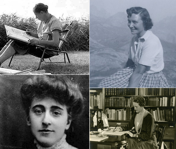Clockwise starting left: Miens Ruy; Beth Chatto; Beatrix Farrand; Marian Coffin (Image Credits: http://www.tuinenmienruys.nl; http://www.gardenmuseum.org.uk/page/beth-chatto-2; College of Environmental Design, UC Berkeley; Winterthur)