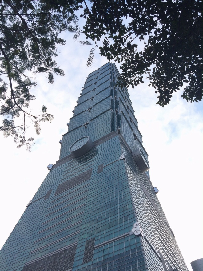Taipei 101, once the world's tallest building, anchors the skyline of Taiwan's largest city Taipei.