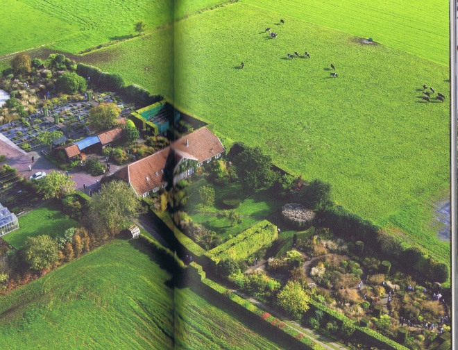 An aerial shot of Hummelo (the nursery can be seen on the upper left page) from the book