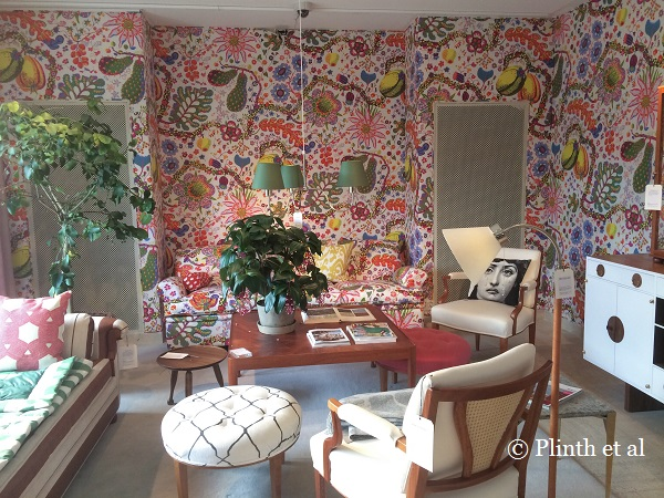 The Swedish-Austrian designer Josef Frank's graphic botanical prints have a lot in common with Kate's work, and it isn't surprising to discover how she enjoys their playful feel.