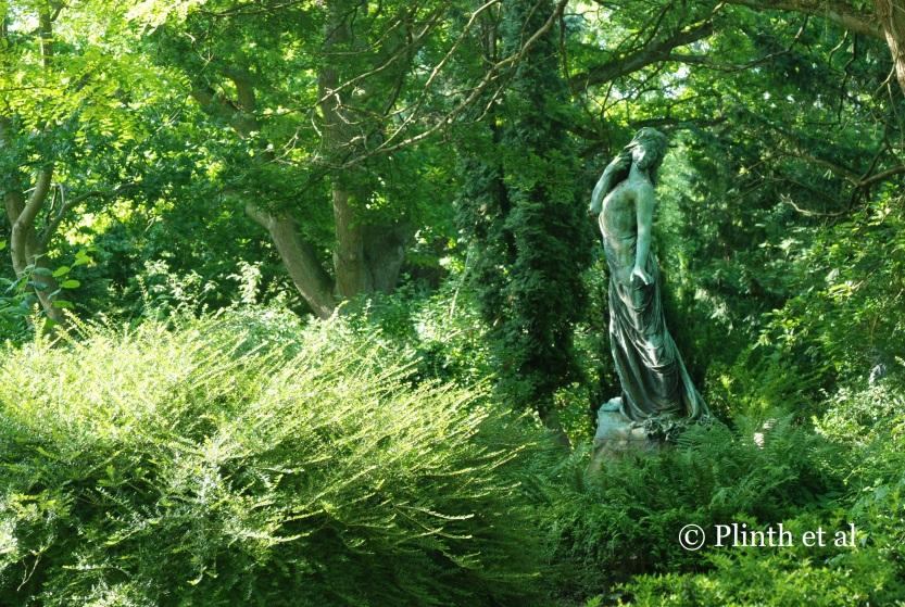 Maiden among greenery